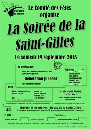 L'affiche de la fête de la Saint-Gilles 2015