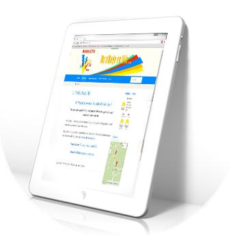 Site cdf78VE sur une tablette