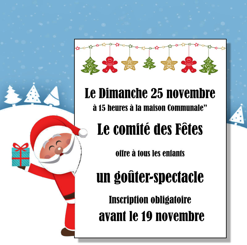 Spectacle de Noël 2018 - goûter-spectacle